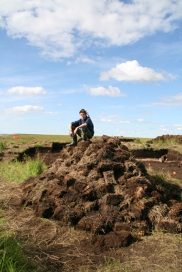 Andrius on sod pile