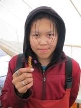 Marissa with her spirit worm