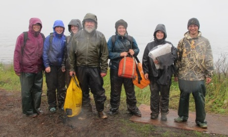 The Wetland team that braved the storm Carly, Lindsey, Ellen. Rick, Jessie, Véro, Mike
