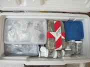 A cooler packed