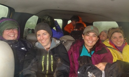 How many archaeologists can you get into a truck (when you've spent all day in the rain you're not that keen to wait in the rain for the second ride...)