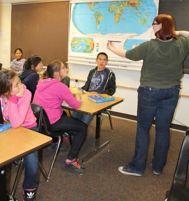 Jacqui teaching highschoolers