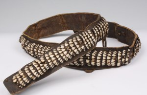 Ethnographic example of a completed belt from the 19th century